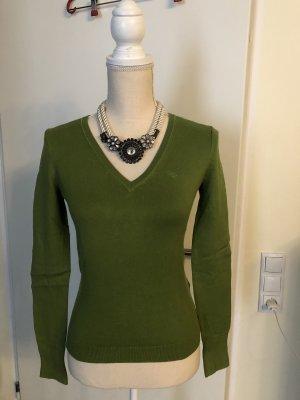 Esprit Maglione con scollo a V verde-verde bosco