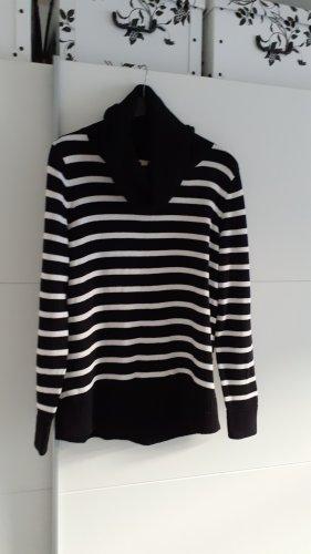 Esprit Turtleneck Sweater white-black
