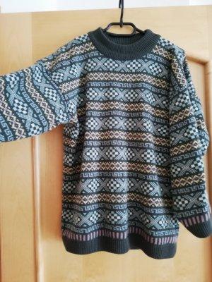 ESPRIT Pullover, bunt gestreift, Azteken Muster, Größe M/L- 38/40 Norweger *