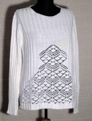 Esprit Pullover Größe 42 Weiß Baumwolle