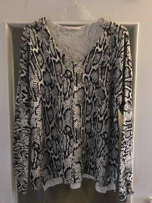 Esprit Jersey trenzado blanco-negro