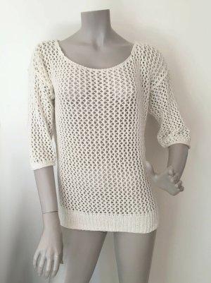 Esprit Pull en crochet crème-blanc cassé coton
