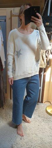 Esprit Długi sweter w kolorze białej wełny-jasnoszary