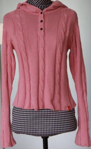 Esprit Pullover mit Kaputze aus Baumwolle in Rosa XS
