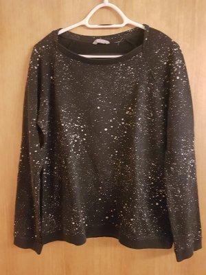 Esprit Pullover Pulli Sweatshirt M schwarz mit Sprenkeln Casual-Look
