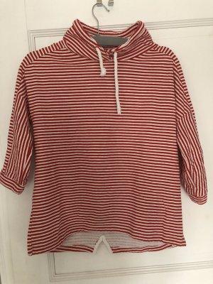 Esprit Pullover rot weiß Streifen Gr. M
