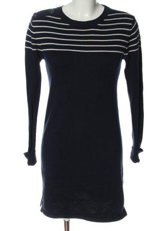 Esprit Sweater Dress black-white striped pattern casual look