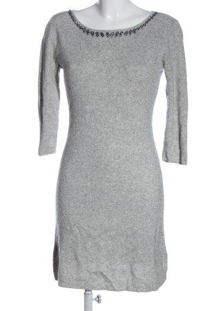 Esprit Abito maglione grigio chiaro puntinato stile casual