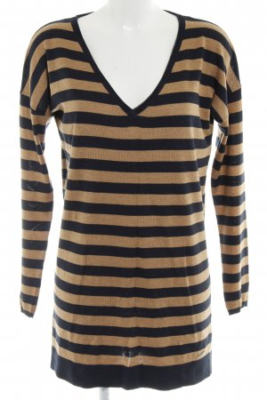 Esprit Pulloverkleid schwarz-braun Streifenmuster Casual-Look