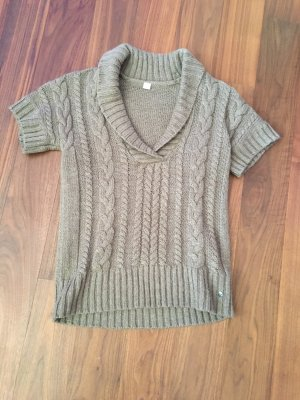 Esprit Sweter bez rękawów z cienkiej dzianiny beżowy