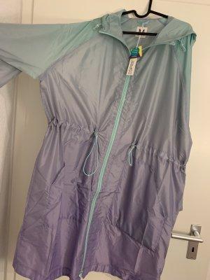Esprit Manteau de pluie violet-vert menthe