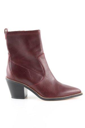 Esprit Reißverschluss-Stiefeletten rot Casual-Look
