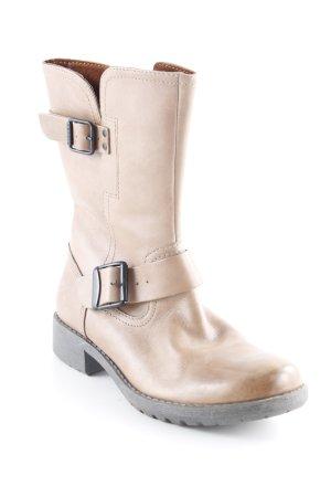 Esprit Reißverschluss-Stiefeletten camel-graubraun Schnallenelemente