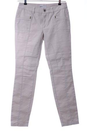 Esprit Pantalone da equitazione grigio chiaro stile casual