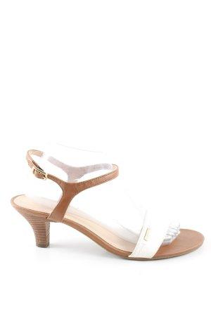 Esprit Sandalias de tiras blanco-marrón look casual