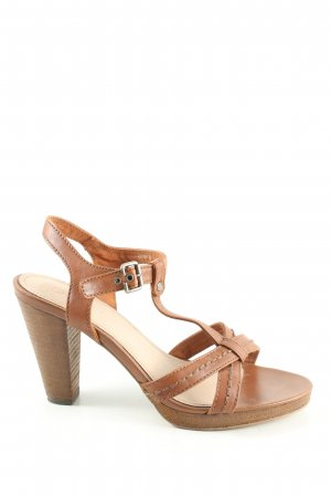 Esprit Riemchen-Sandaletten braun Casual-Look