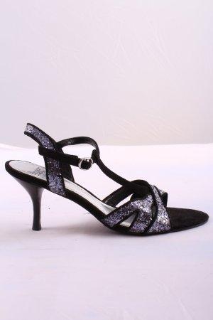 Esprit Riemchen-Sandaletten schwarz-silberfarben Casual-Look