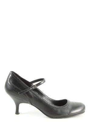 Esprit Czółenka z rzemykami czarny W stylu casual