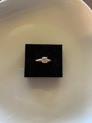 Esprit Złoty pierścionek w kolorze różowego złota