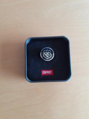 Esprit Silver Ring black-silver-colored