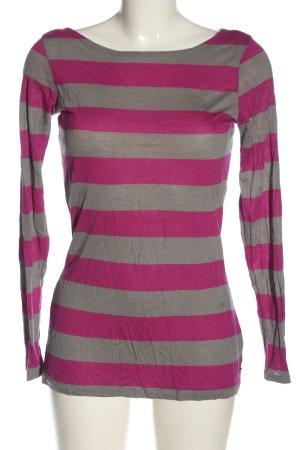Esprit Koszulka w paski jasnoszary-różowy Na całej powierzchni W stylu casual