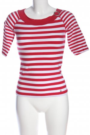Esprit Stripe Shirt red-white allover print casual look