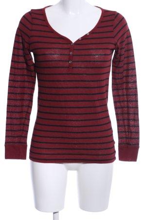 Esprit Gestreept shirt rood volledige print casual uitstraling