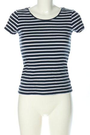 Esprit Camisa de rayas negro-blanco estampado repetido sobre toda la superficie