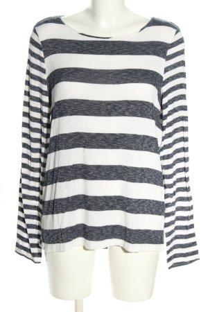 Esprit T-shirt rayé gris clair-blanc motif rayé style décontracté