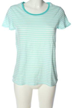 Esprit Gestreept shirt wit-turkoois gestreept patroon casual uitstraling