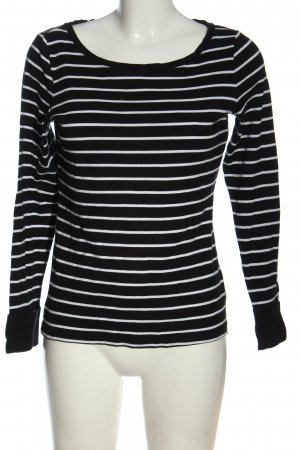 Esprit Top à manches longues noir-blanc motif rayé élégant
