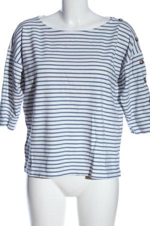 Esprit Ringelshirt weiß-blau Streifenmuster Casual-Look