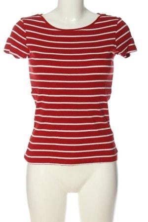 Esprit Koszulka w paski czerwony-biały Na całej powierzchni W stylu casual