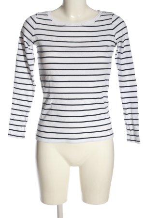Esprit Ringelshirt weiß-schwarz Streifenmuster Casual-Look
