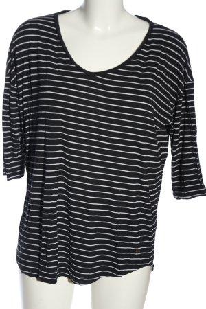 Esprit T-shirt rayé noir-blanc motif rayé style décontracté