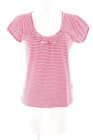Esprit Gestreept shirt rood-wit volledige print casual uitstraling