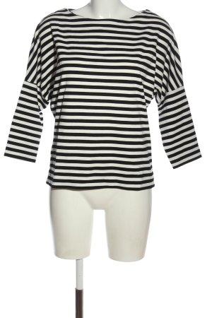 Esprit T-shirt rayé noir-blanc imprimé allover style décontracté