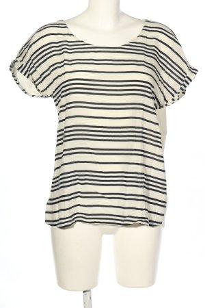 Esprit Stripe Shirt white-black striped pattern casual look