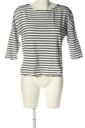 Esprit T-shirt rayé blanc-noir motif rayé style décontracté