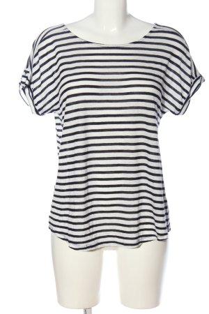 Esprit Ringelshirt schwarz-weiß Allover-Druck Casual-Look