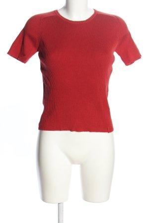 Esprit Prążkowana koszulka czerwony W stylu casual