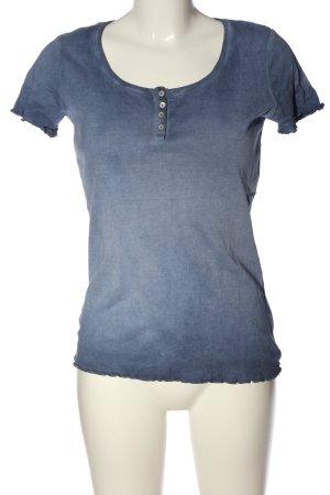 Esprit Camisa acanalada azul degradado de color look casual