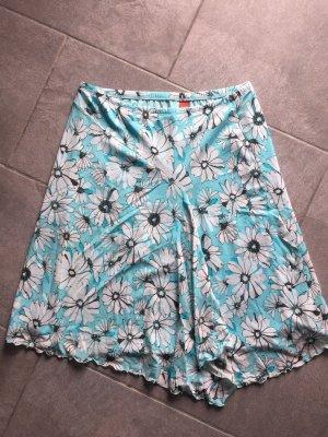 Esprit Spódnica midi biały-jasnoniebieski
