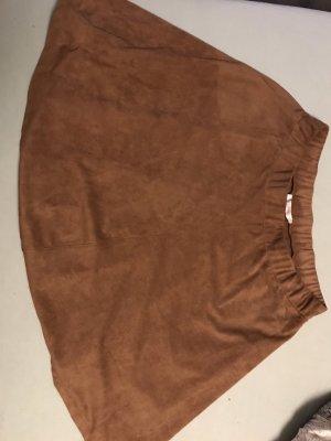 Esprit Falda de cuero de imitación marrón-coñac
