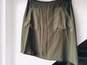 ESPRIT Rock mit aufgesetzten Taschen, dunkelgrün