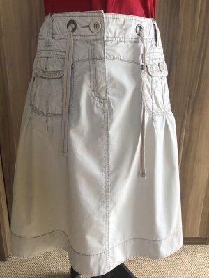 adc by Esprit Plisowana spódnica w kolorze białej wełny