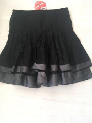 Edc Esprit Falda a cuadros negro