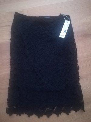 Esprit Lace Skirt black cotton