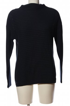 Esprit Rollkragenpullover schwarz Streifenmuster Casual-Look