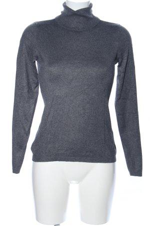 Esprit Turtleneck Sweater light grey flecked business style